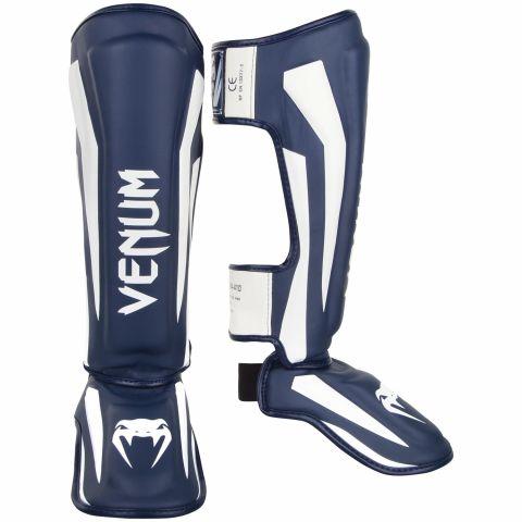 Venum Elite Standup Shin guards - White/Navy Blue
