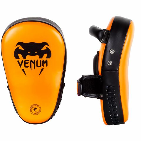 Venum Elite Small Kick Pads  - Neo Orange