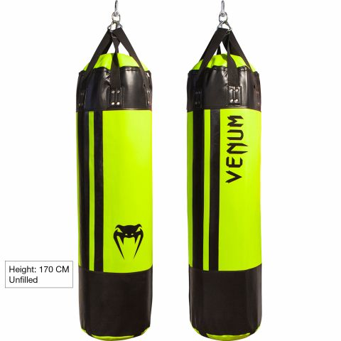 Venum Hurricane Punching Bag - 170 cm - Unfilled - Black/Neo Yellow
