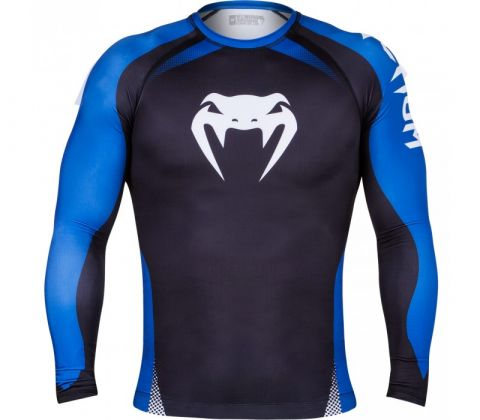 Venum No GI Rash Guard IBJJF Approved - Black/Blue