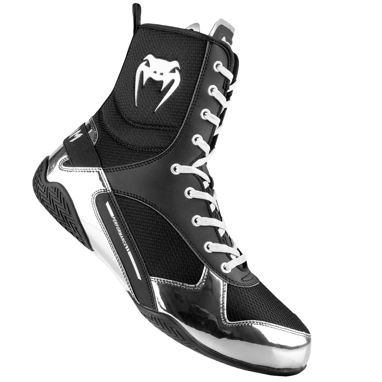 Venum Elite Boxing Shoes Black//Black