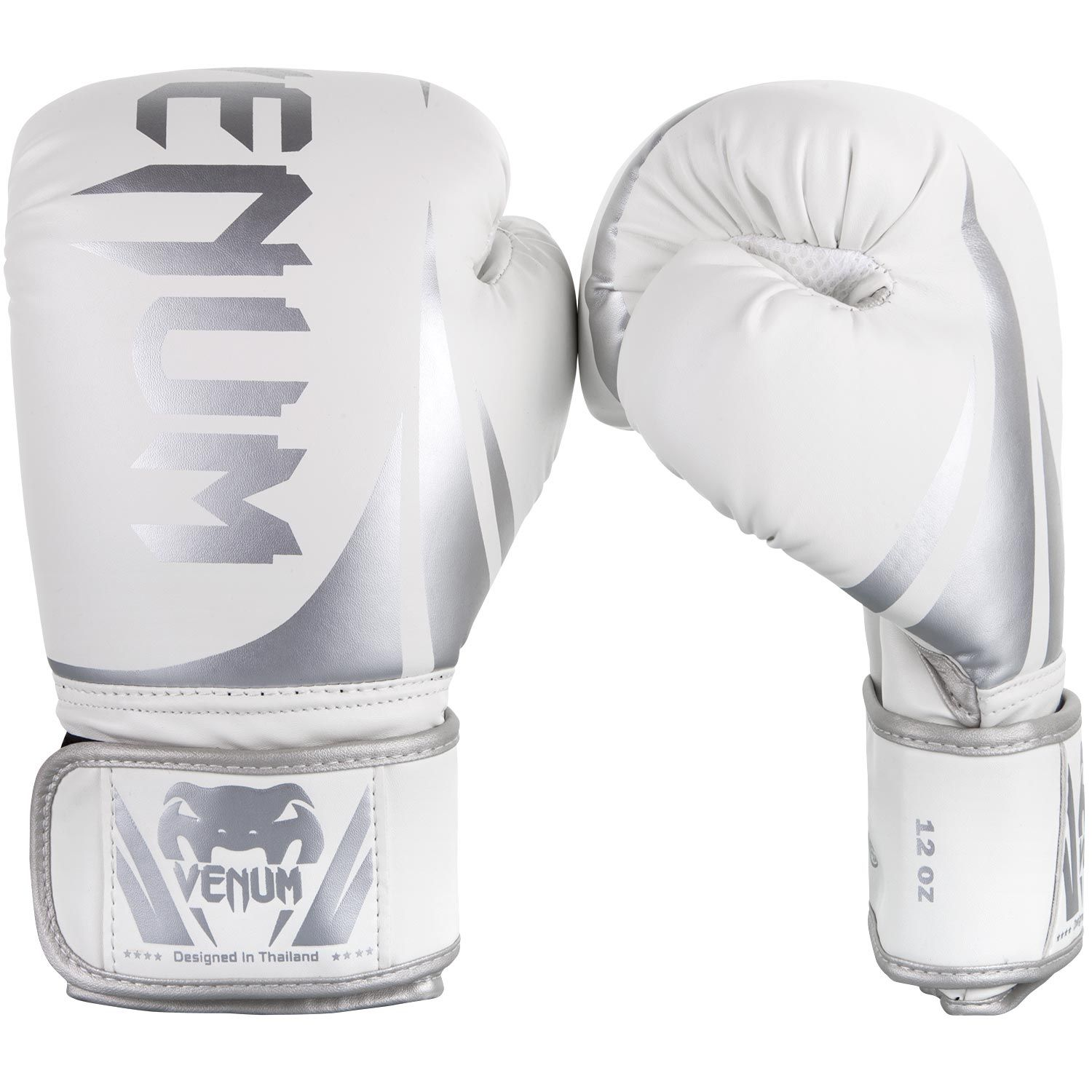 Venum Challenger 2.0 Boxing Gloves - White/Silver