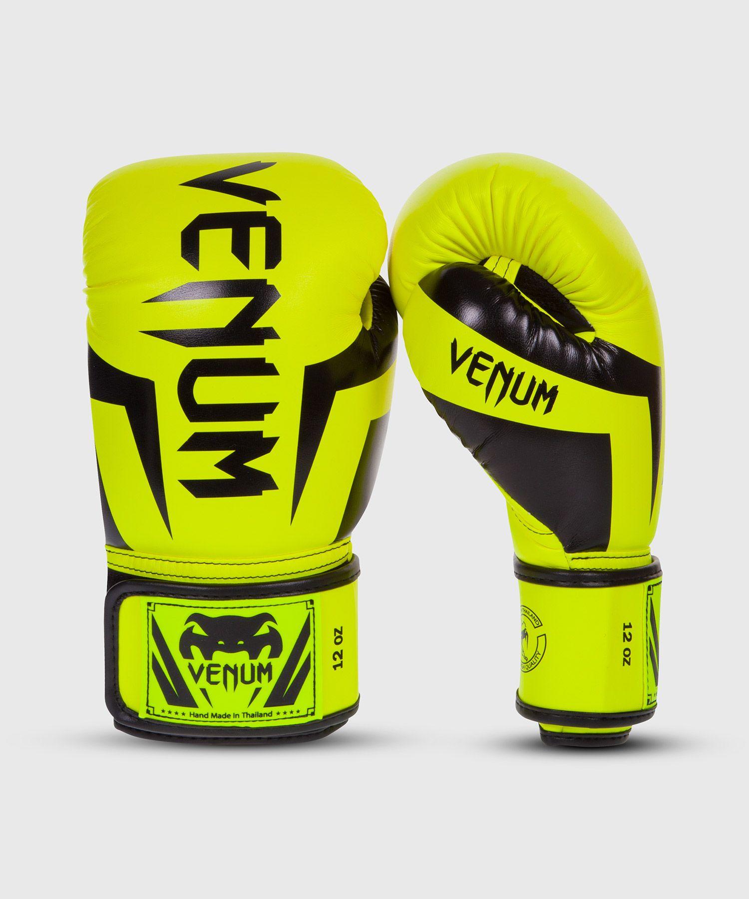 Venum Elite Boxing Gloves - Neo Yellow