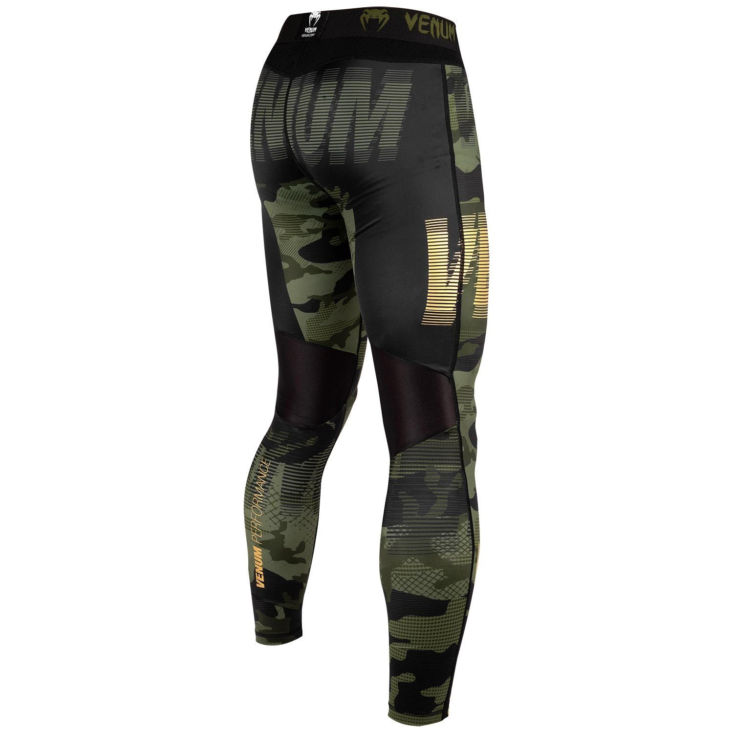 Venum Mens Giant Muay Thai Shorts Black//Forest Camo