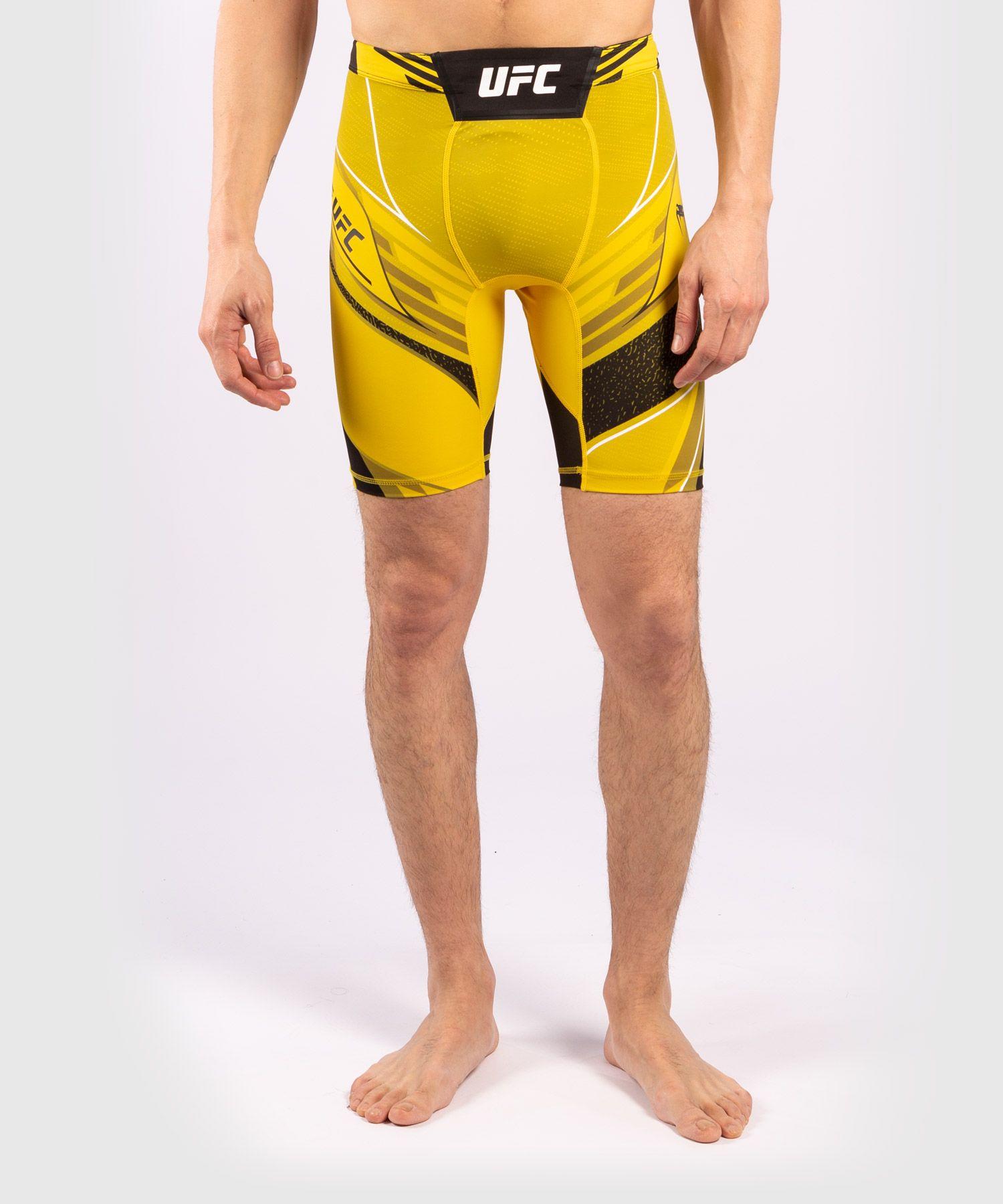 UFC Venum Authentic Fight Night Men's Vale Tudo Shorts - Long Fit - Yellow