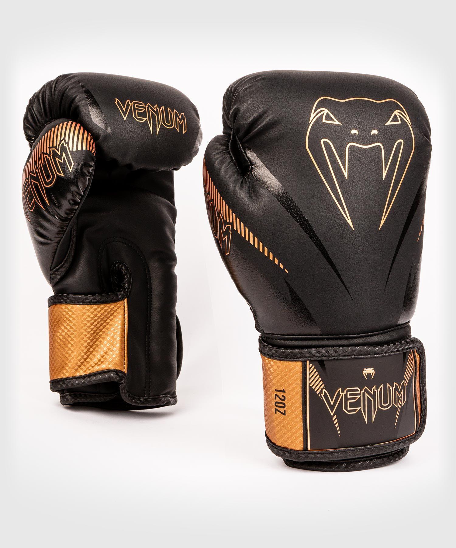 Venum Impact Boxing Gloves - Black/Bronze