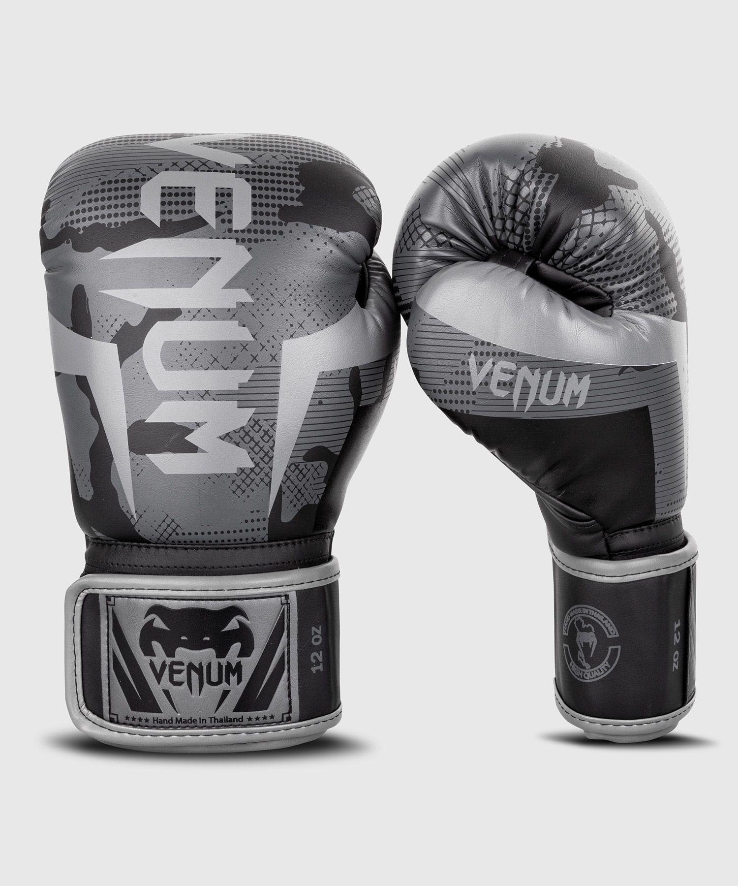 Боксерские перчатки Venum Elite  - Черный/Темный камуфляж
