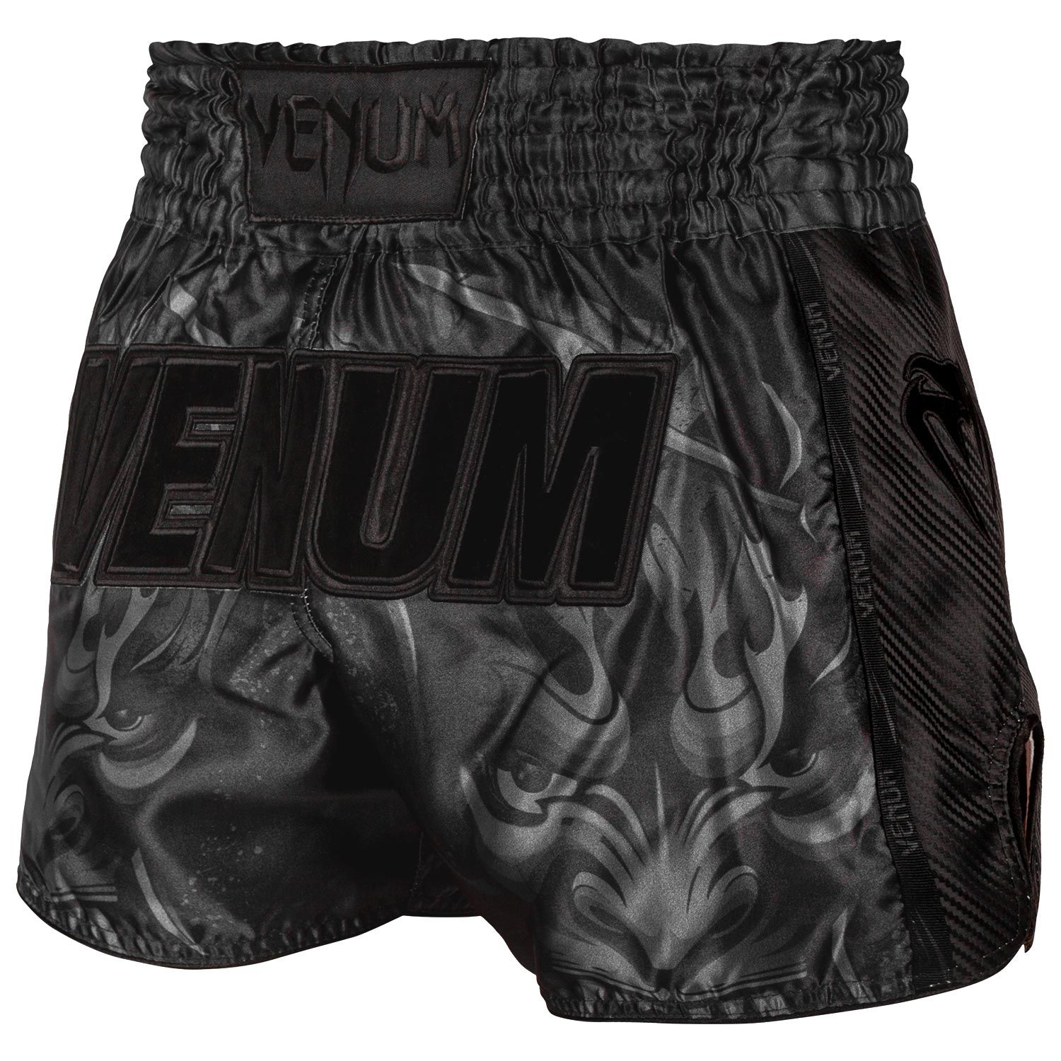 Venum Devil Muay Thai Shorts - Black/Black