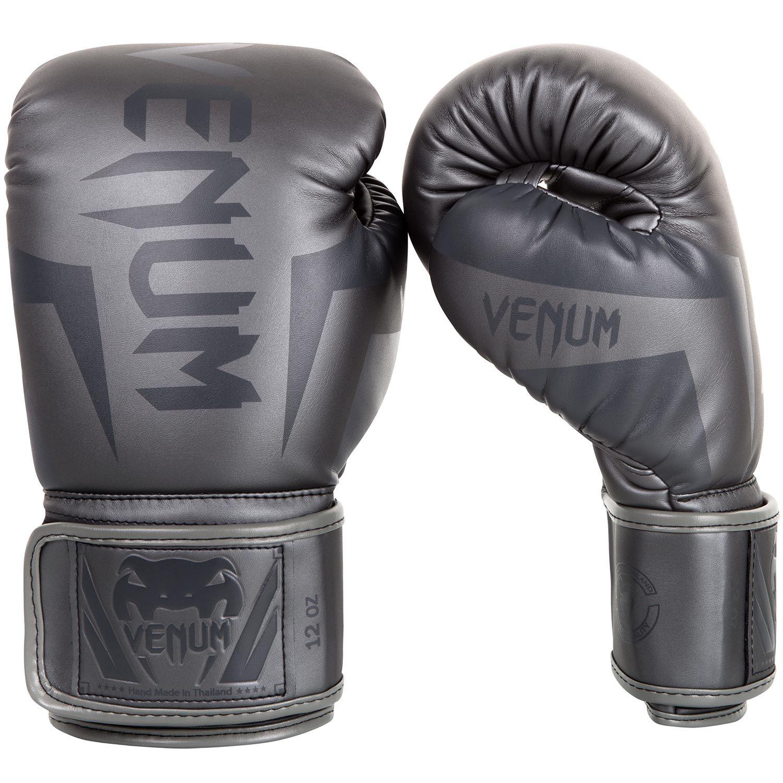 Боксерские перчатки Venum Elite – серые/серые