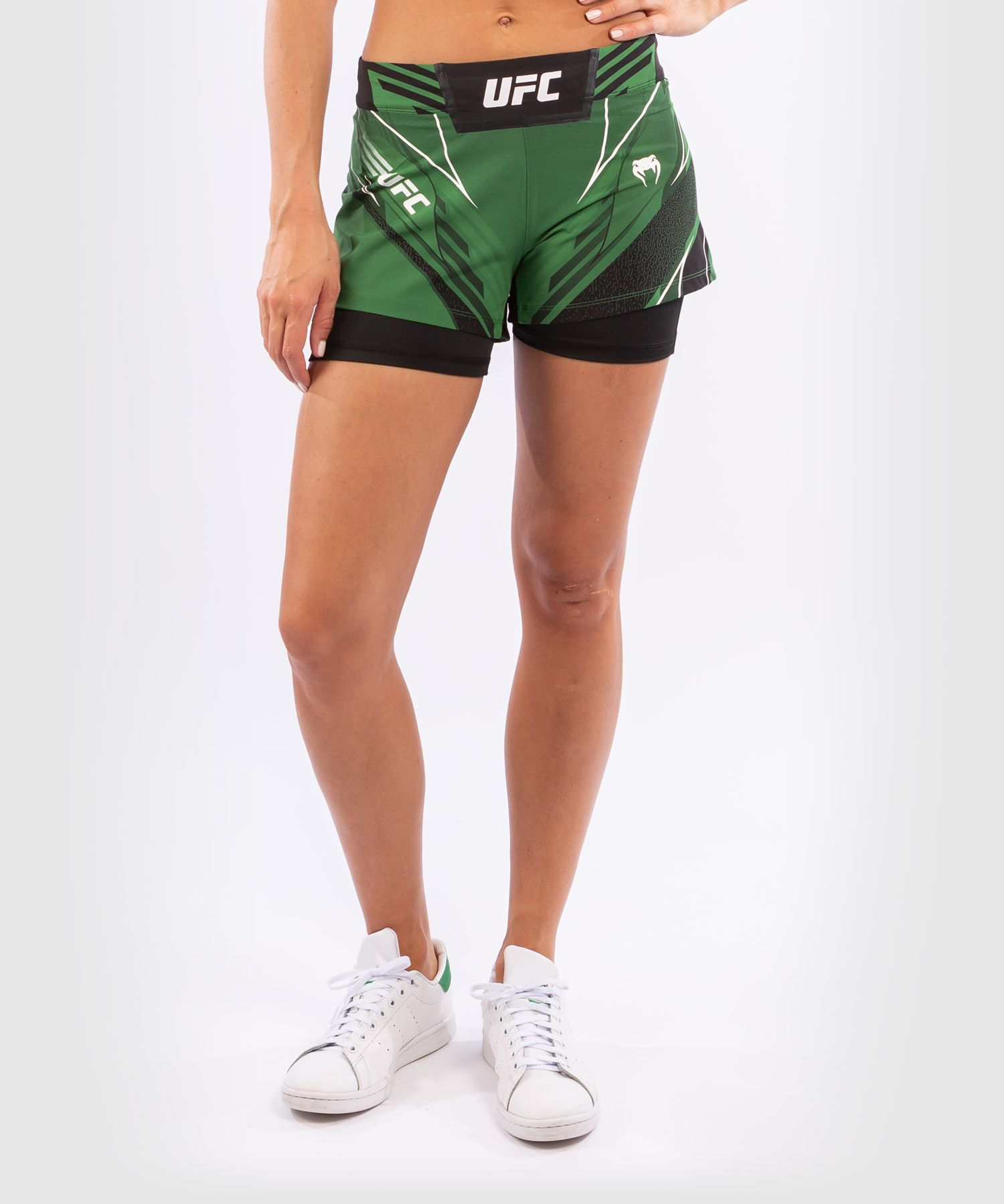 UFC 베넘 어쎈틱 파이트 나이트 여성 쇼츠 - 숏 핏 - 초록