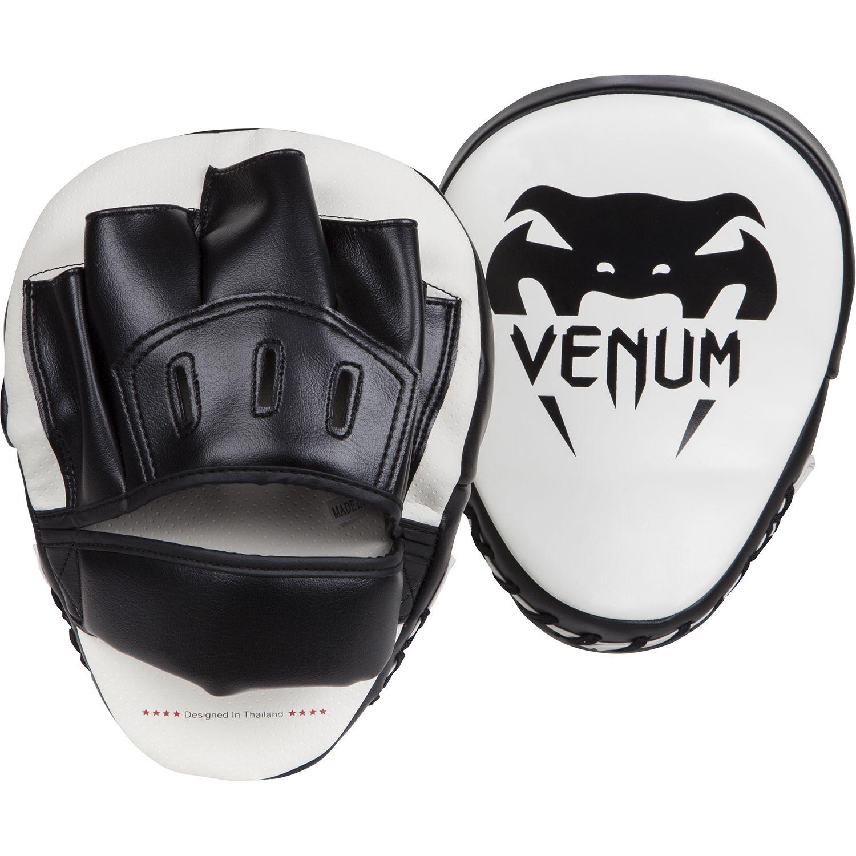 Venum Light Focus Mitts - White/Black (Pair)