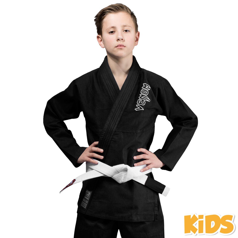 Venum Contender Kids BJJ Gi (Free white belt included) - Black