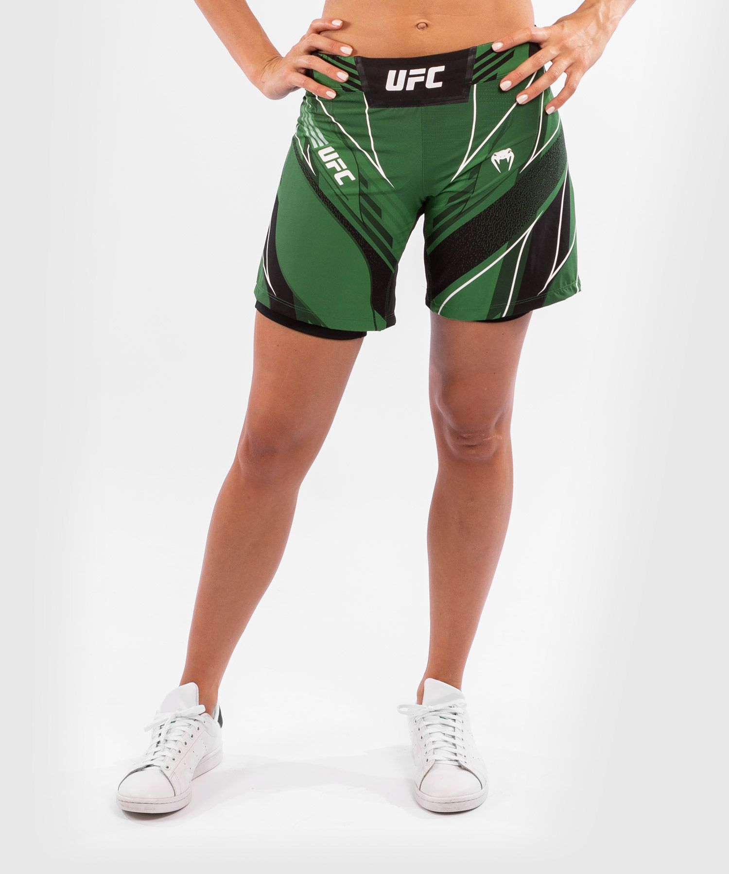 UFC 베넘 어쎈틱 파이트 나이트 여성 쇼츠 - 롱 핏 - 초록