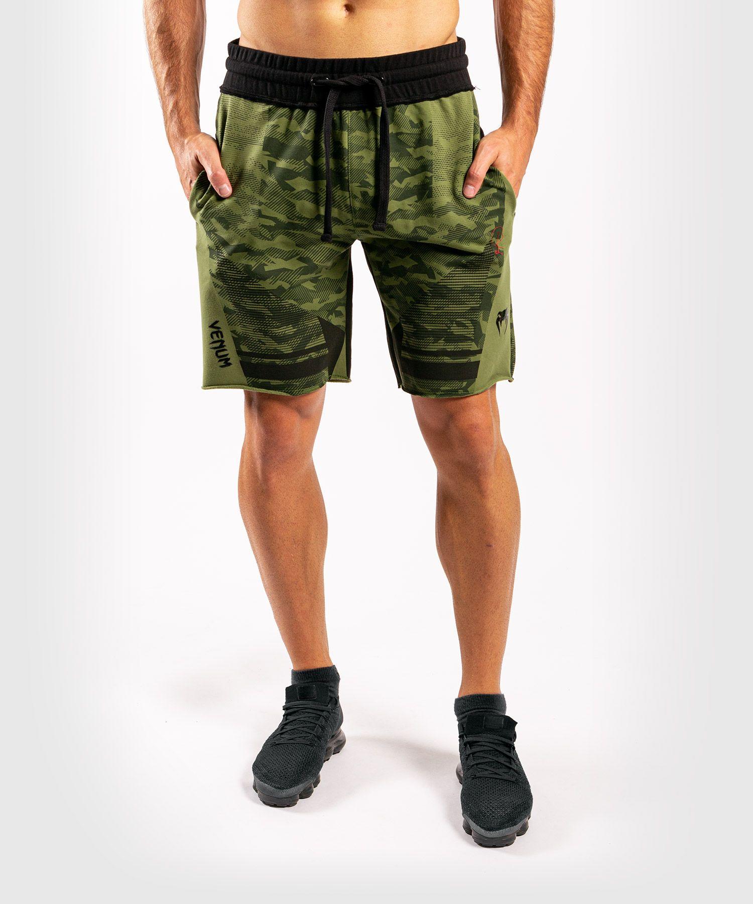 Хлопковые шорты Venum Trooper - Лесной камуфляж/ Черный