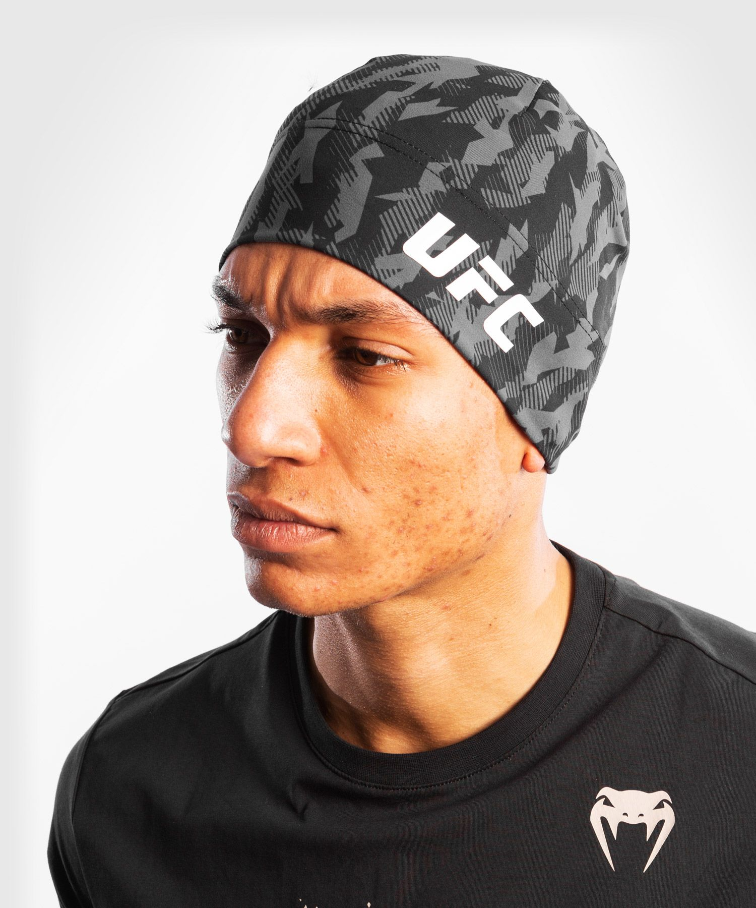 UFC Venum Authentic Fight Week Unisex Performance Beanie - Black