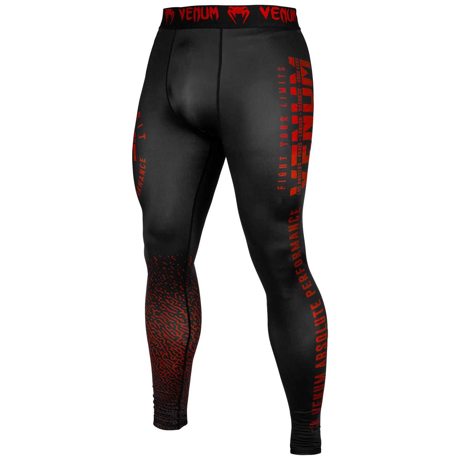 Venum Signature Compression Spats Black//Red