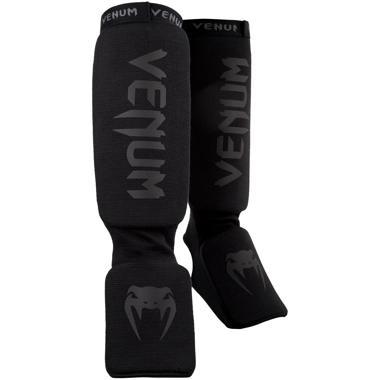Venum Kontact Shin guards-Black/Black