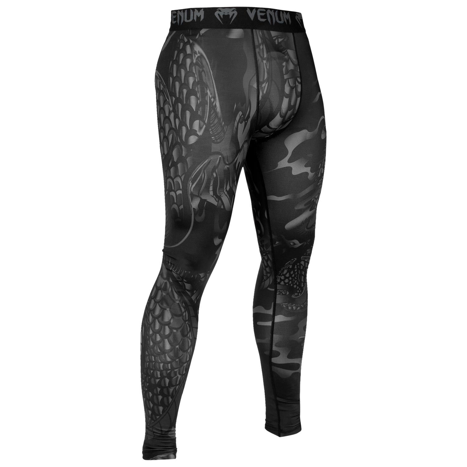 Venum Dragon's Flight Spats - Black/Black