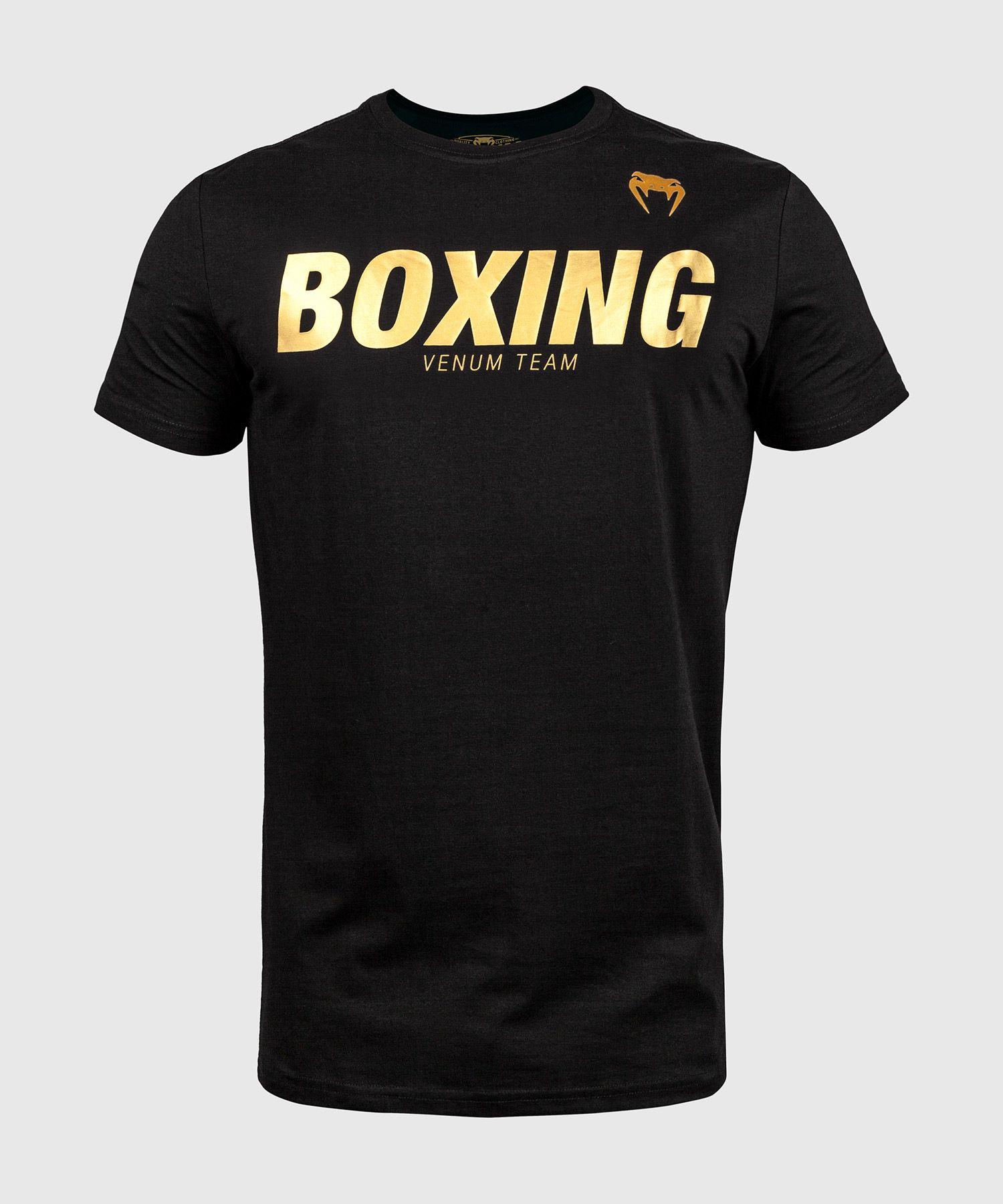 Футболка Venum Boxing VT - Черный/Золотой