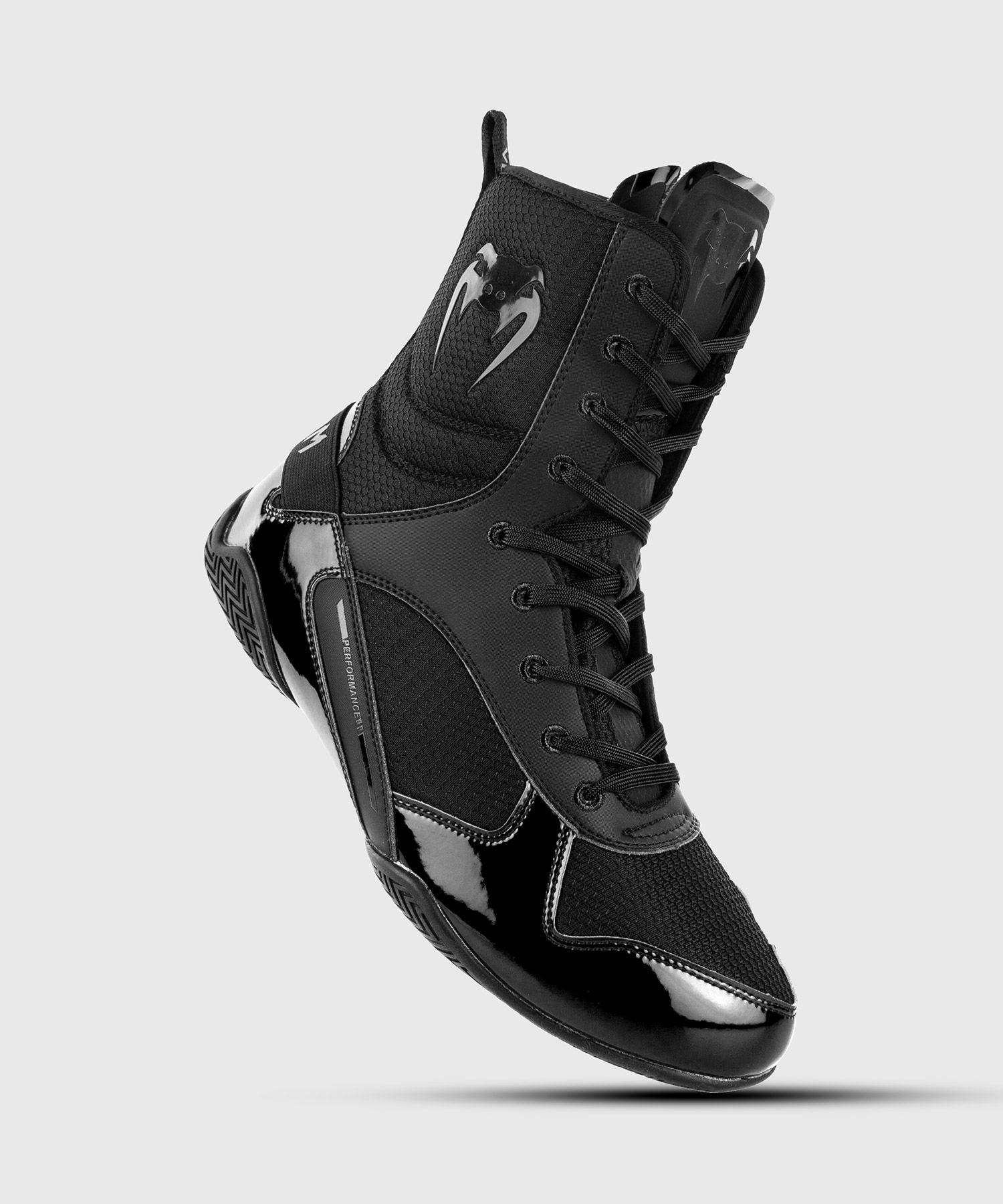 Venum Elite Boxing Shoes - Black/Black