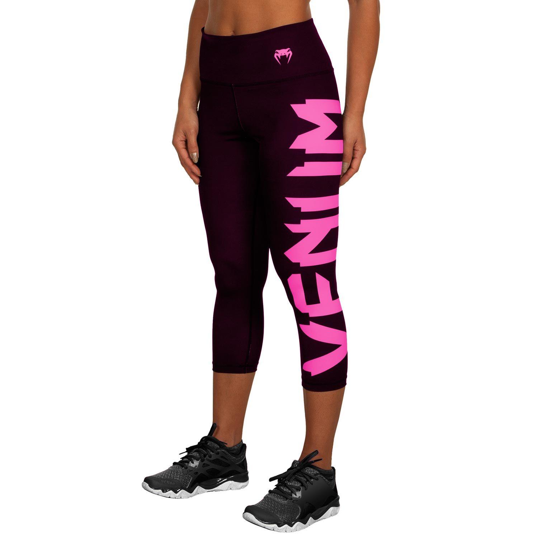 Venum Giant Cropped Leggings - Black/Neo Pink