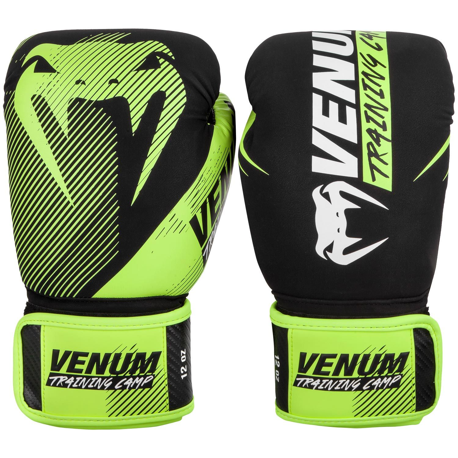 Venum Training Camp 2.0 Boxing Gloves - Black/Neo Yellow
