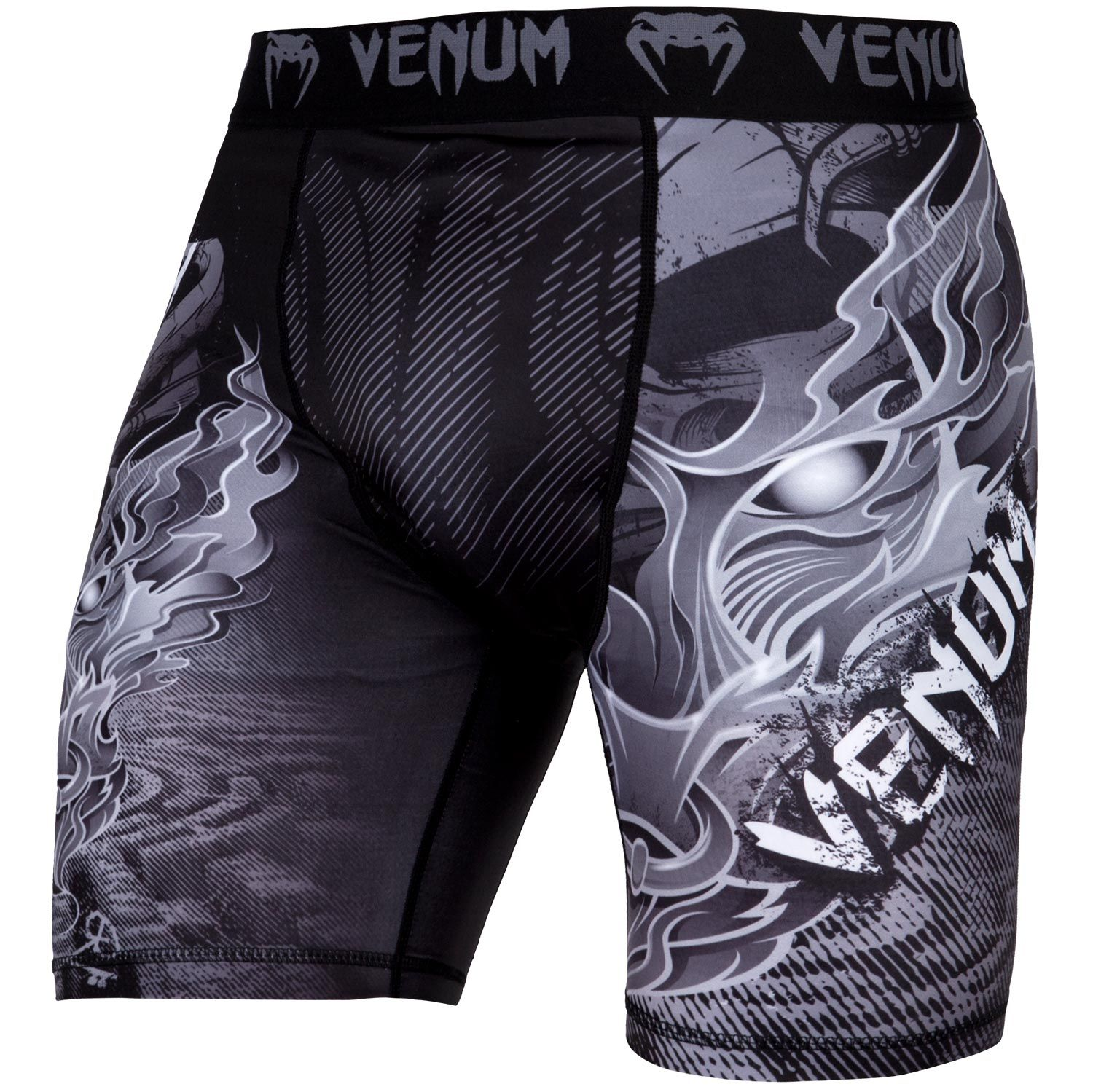 Venum Minotaurus Compression Shorts - Black/White