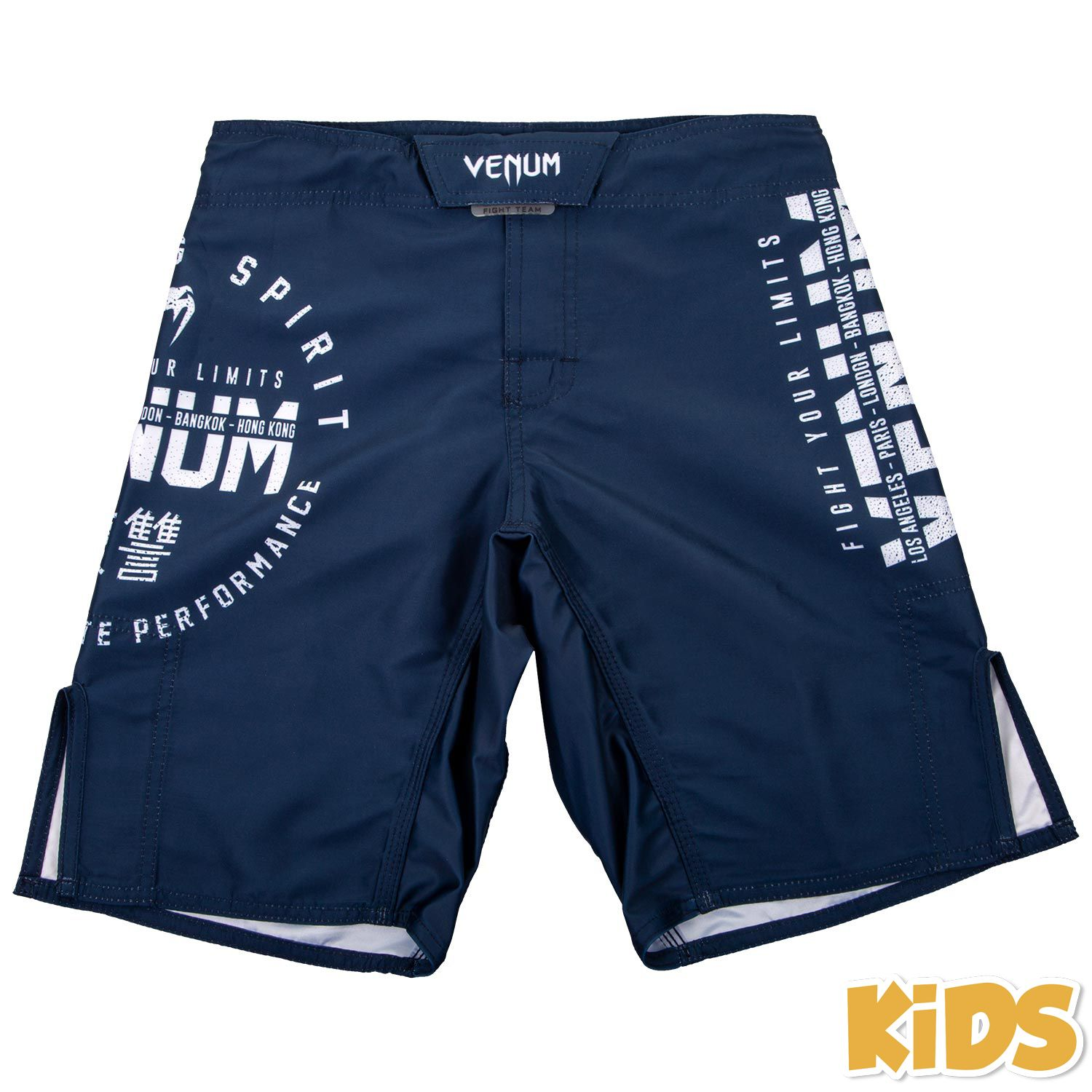 Venum Signature Kids Fightshorts - Navy Blue