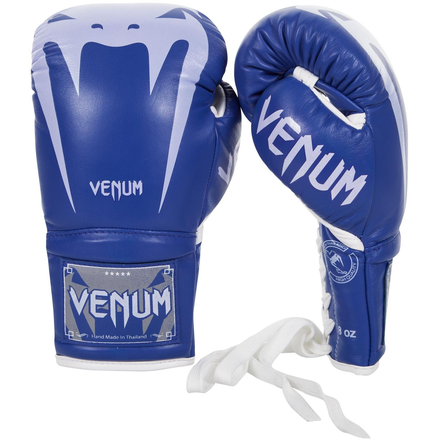Venum Giant 3.0 Boxing Gloves - Nappa Leather - With Laces - Blue