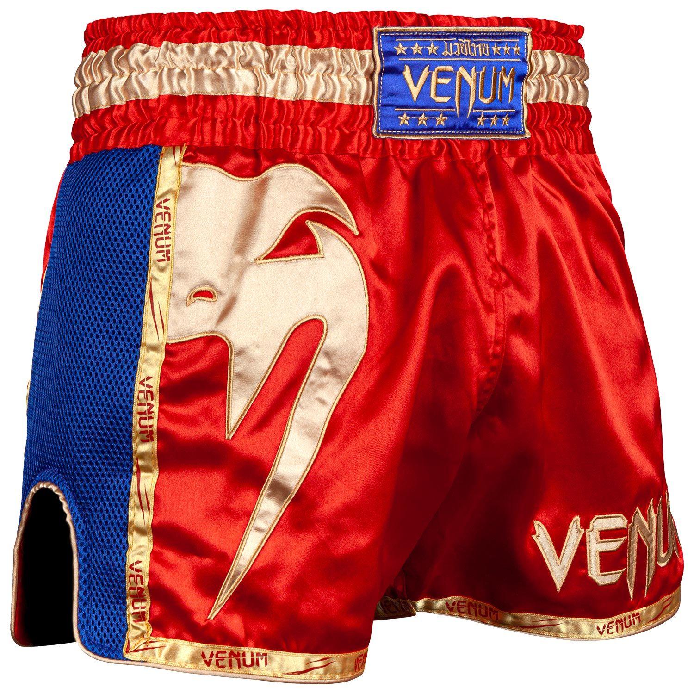 Шорты для тайского бокса Venum Giant - Красный/Золотой