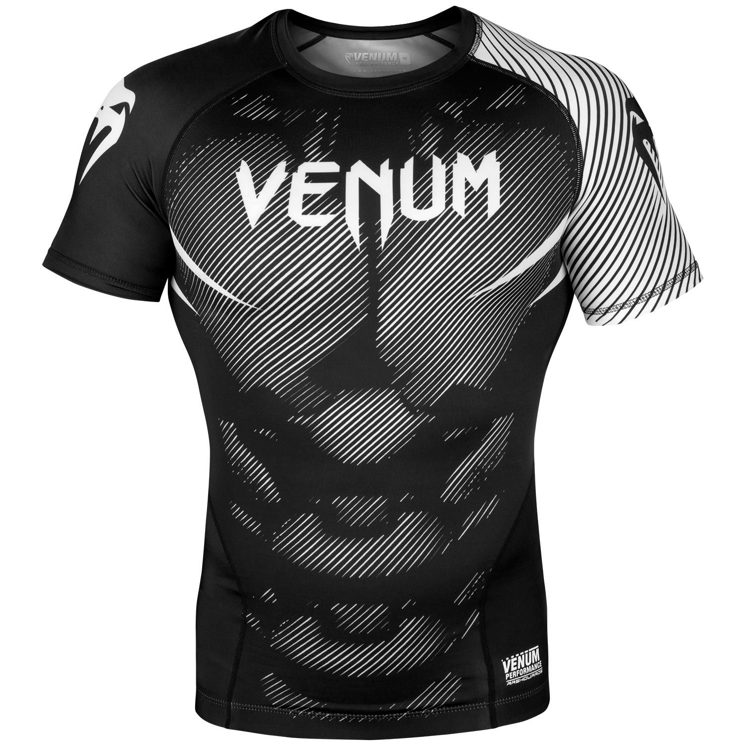 Venum NoGi 2.0 Rashguard - Short Sleeves - Black/White