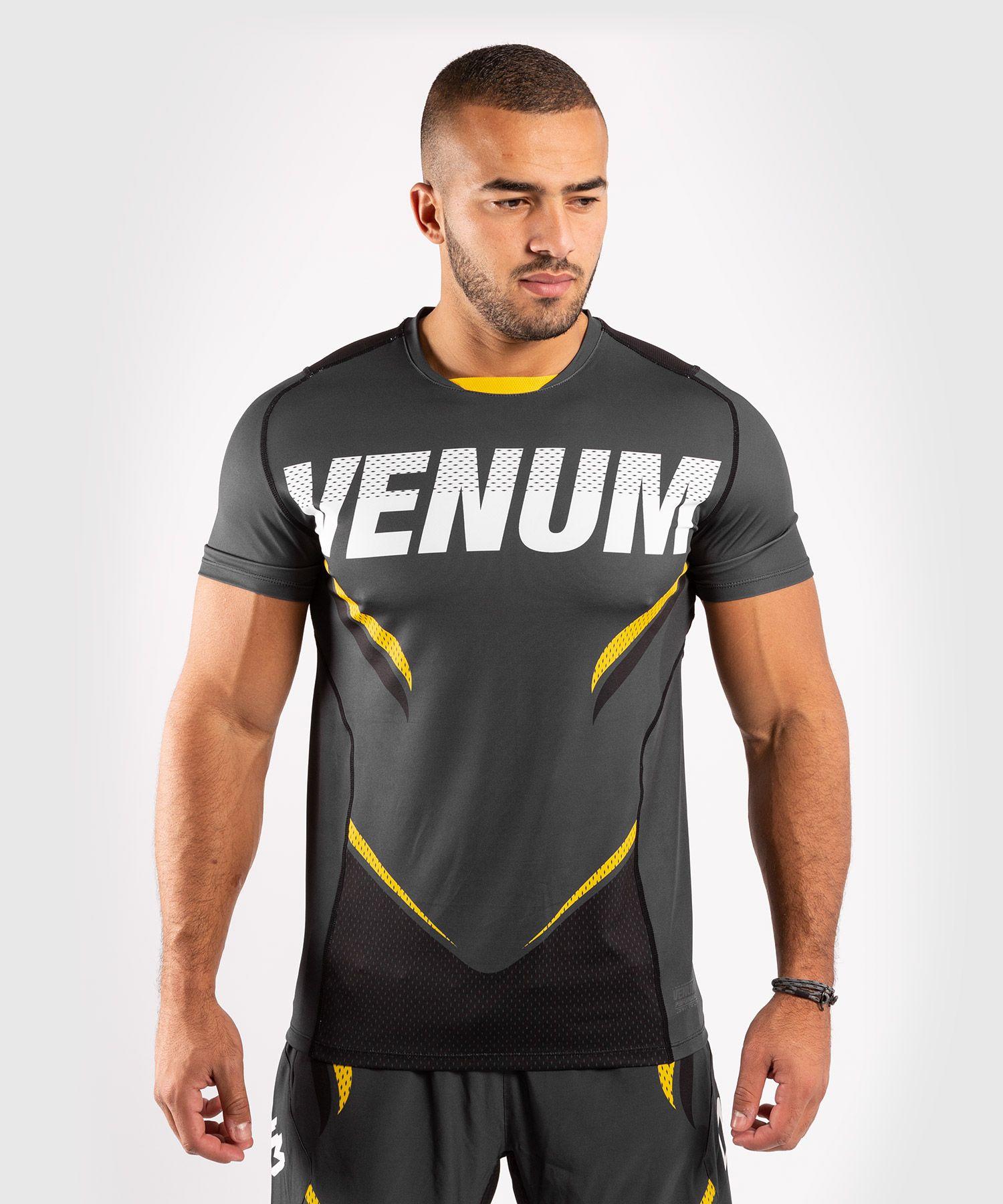 베넘 ONE FC 임팩트 드라이 테크 티셔츠 - 그레이/옐로우
