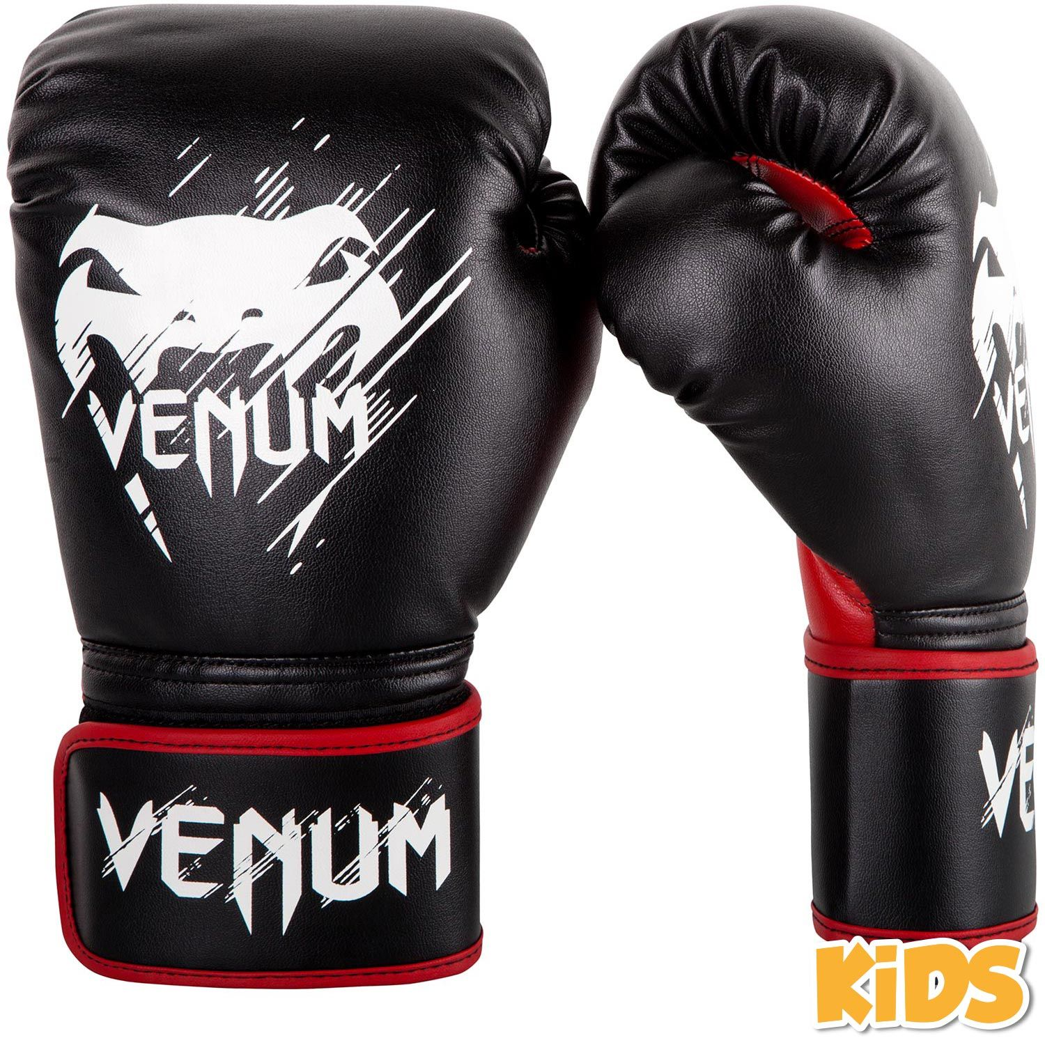 Venum Contender Kids Boxing Gloves - Black/Red