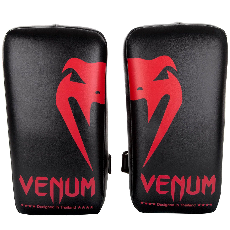 Venum Giant Kick Pads - Black/Red (Pair)