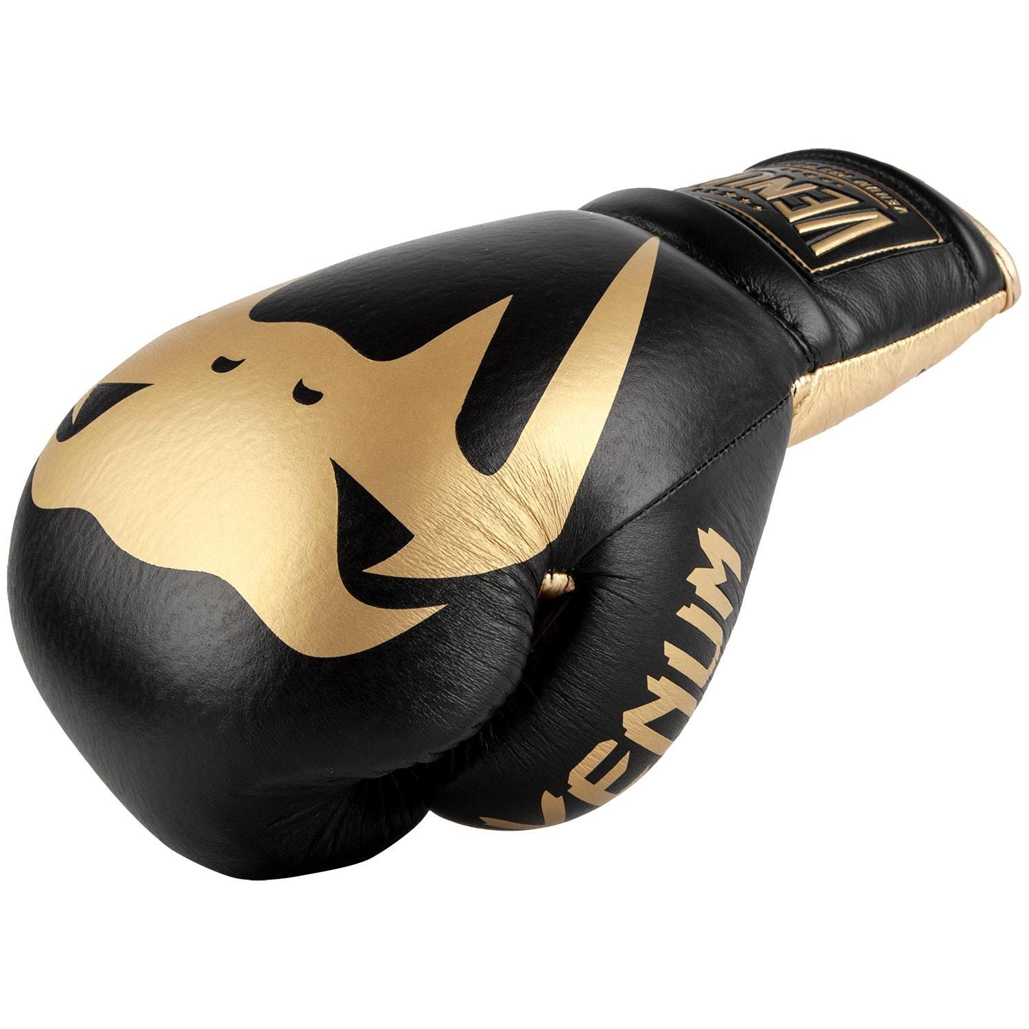 Venum Giant 2.0 Pro Boxing Gloves - With Laces - Black/Gold - Black/Gold