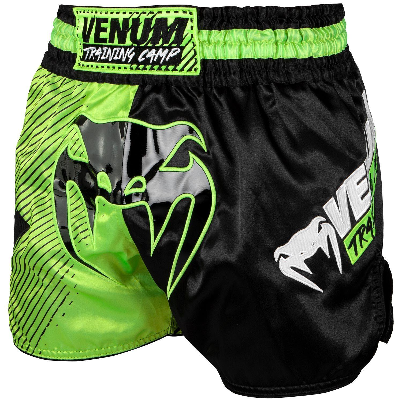Шорты для тайского бокса Venum Training Camp - Черный/Неоновый желтый