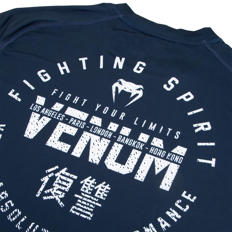 Venum Signature Dry Tech Short Sleeve T-Shirt Navy Blue//White
