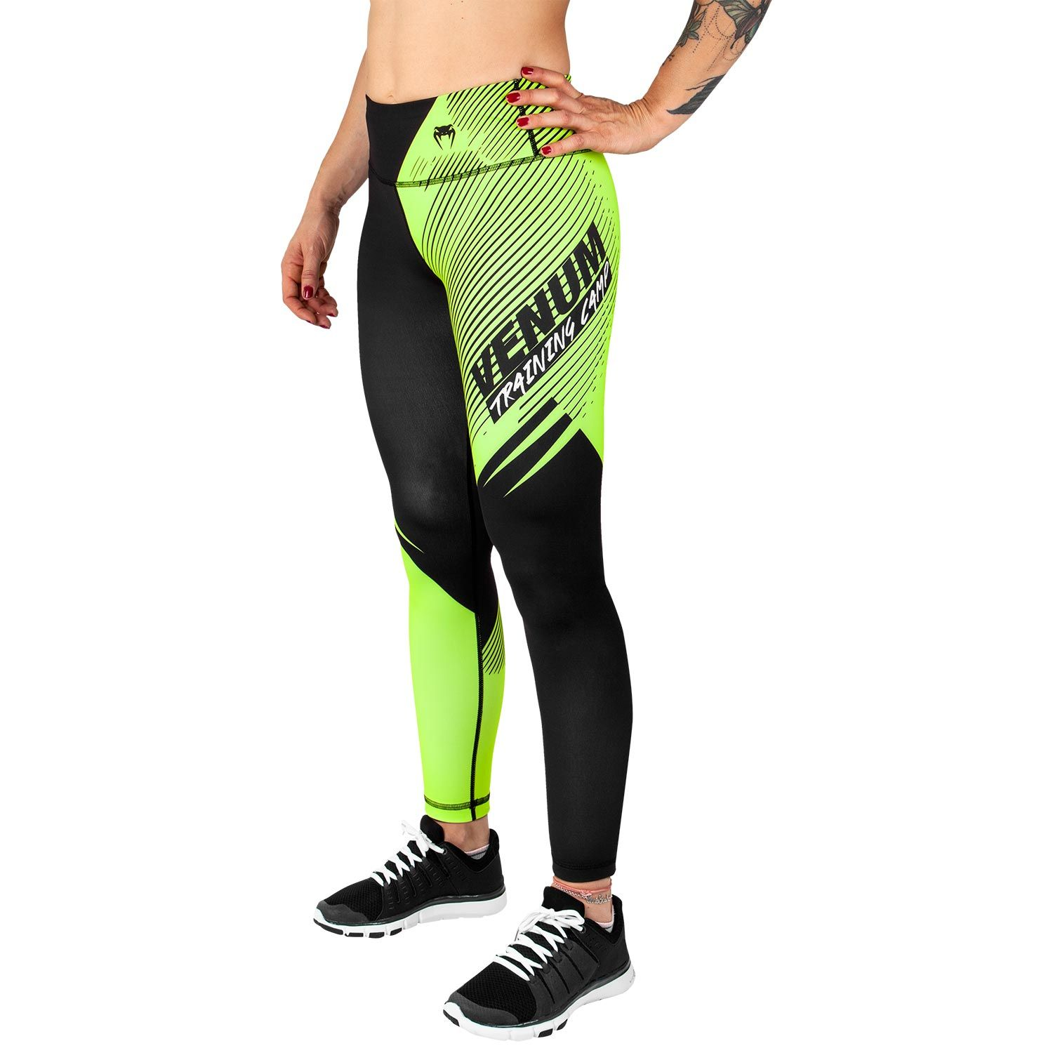 Venum Training Camp 2.0 Leggings - Black/Neo Yellow - For Women