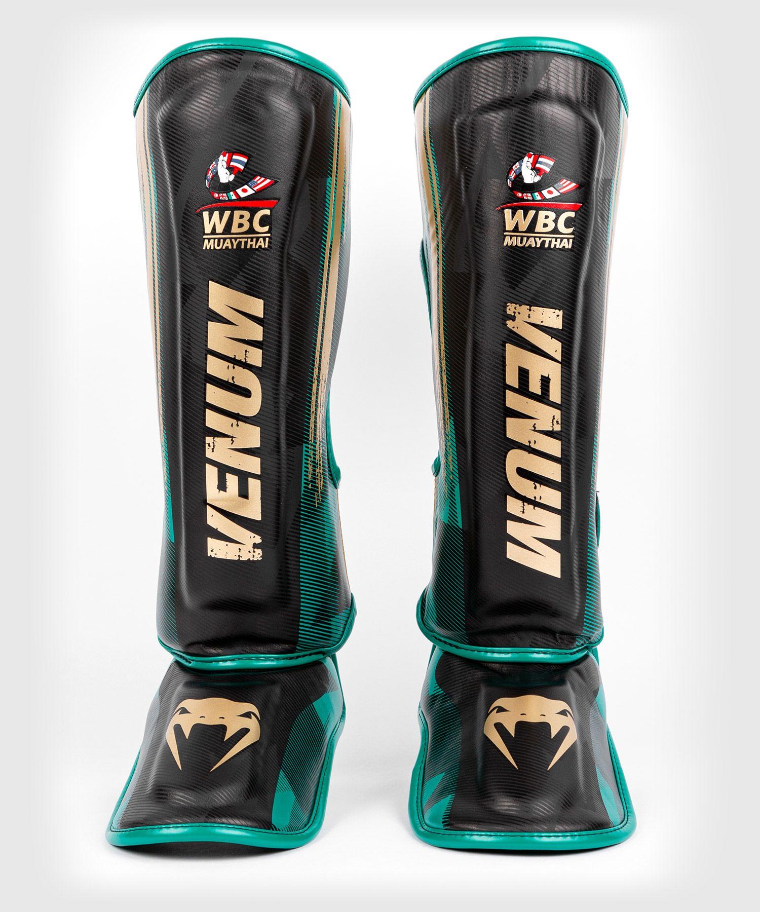 Venum WBC Muay Thai Shinguards - Black/Green
