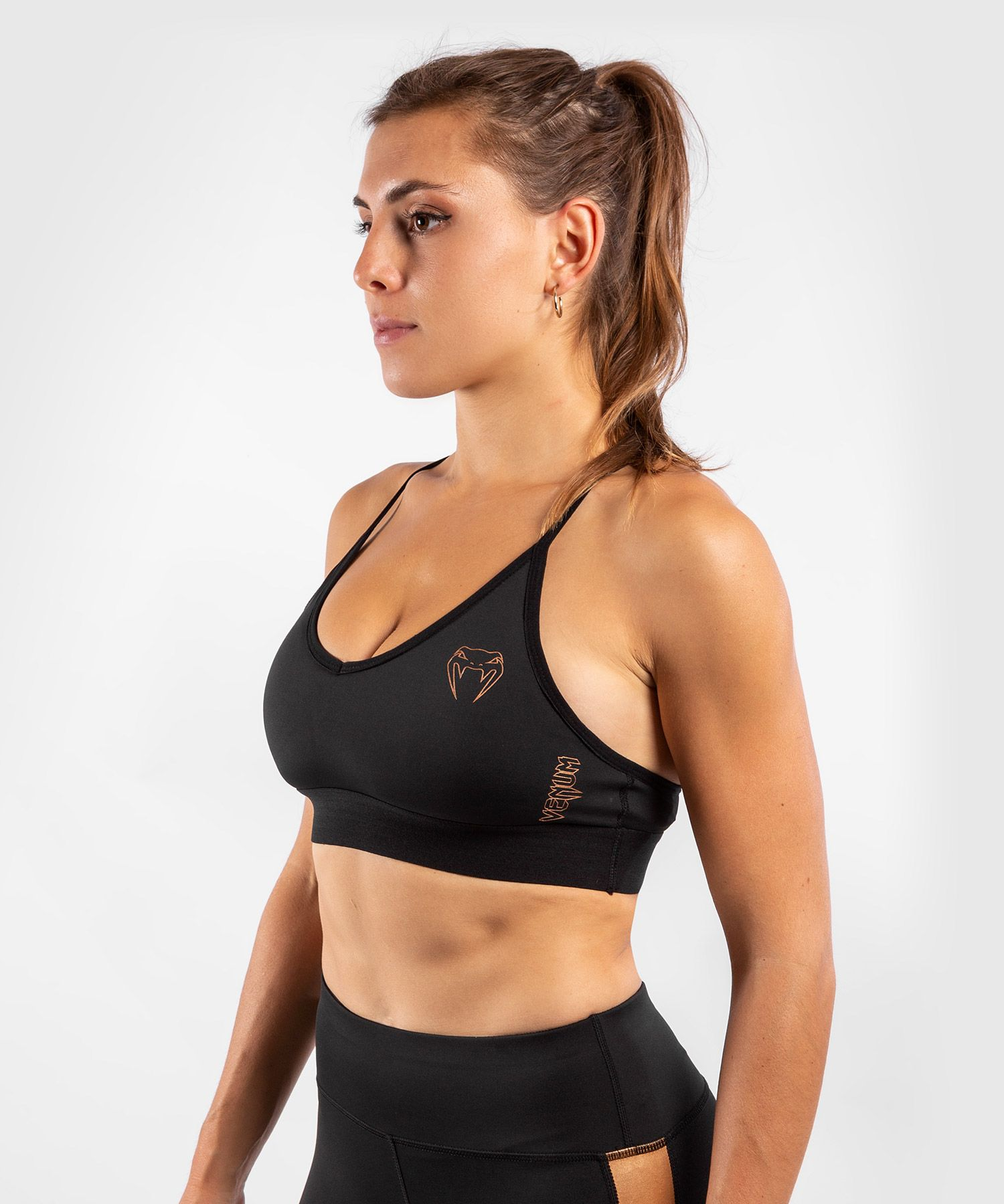 Venum Tecmo Sport Bra - For Women - Black/Bronze