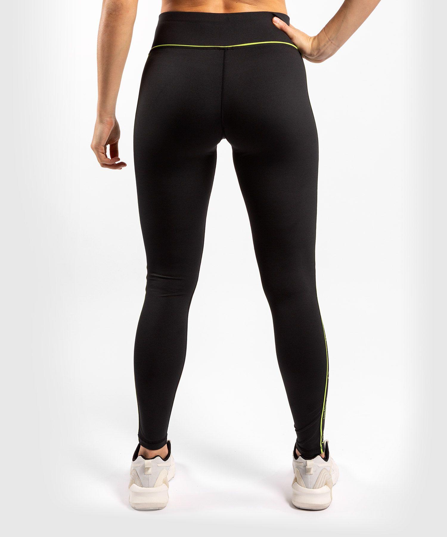 Venum Tecmo Leggings - For Women - Black/Neo Yellow