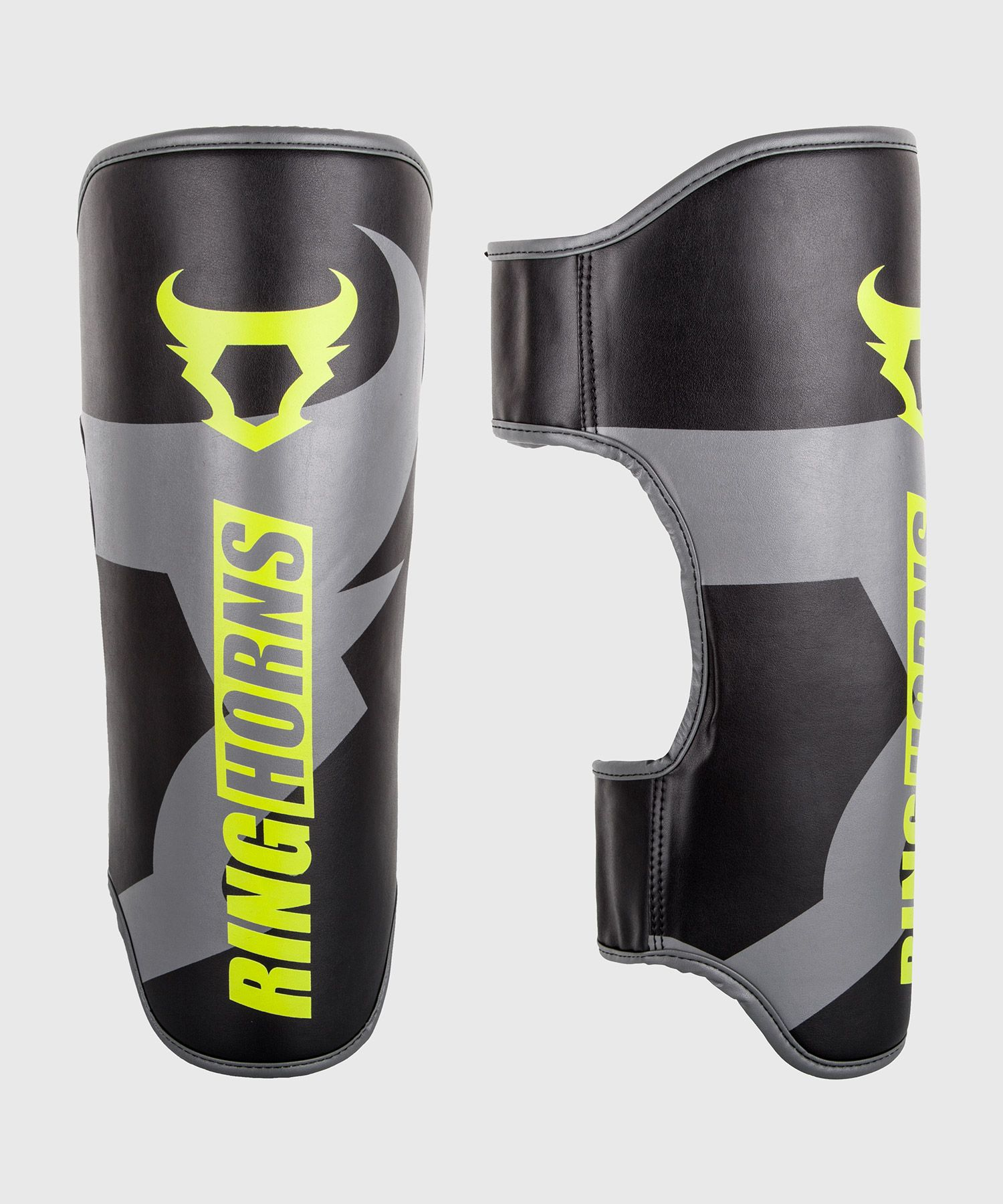 Ringhorns Charger Shin Guards - Black/Neo Yellow