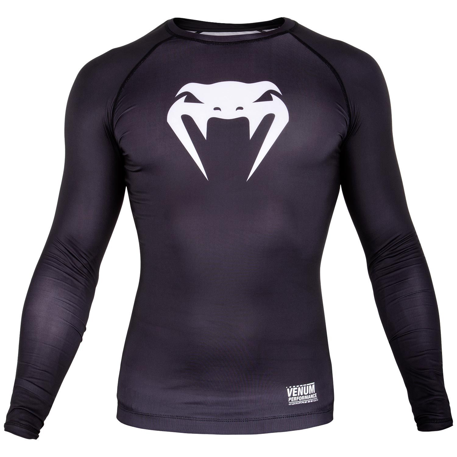 Venum Contender 3.0 Compression T-shirt - Long Sleeves - Black/White