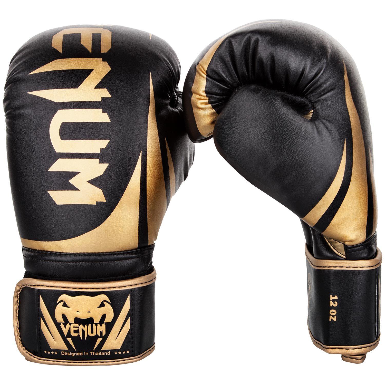 Боксерские перчатки Venum Challenger 2.0 – черные/золотистые