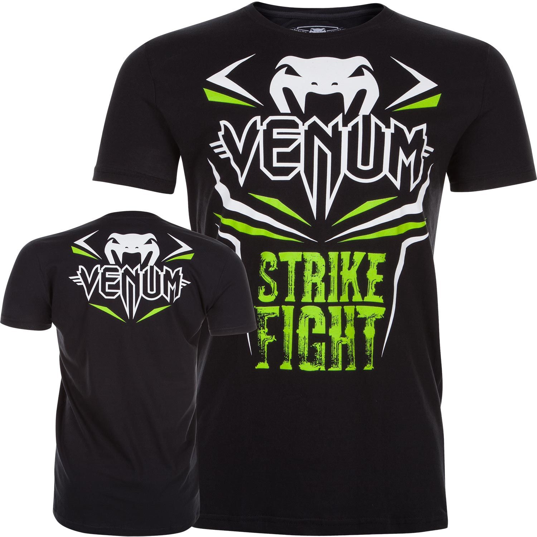 Venum Strike Fight T-shirt - Black/Neo Green