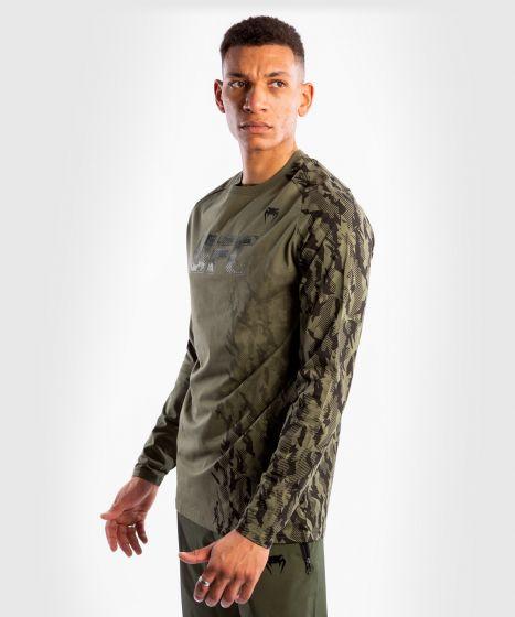 UFC Venum Authentic Fight Week Men's Long Sleeve T-shirt - Khaki