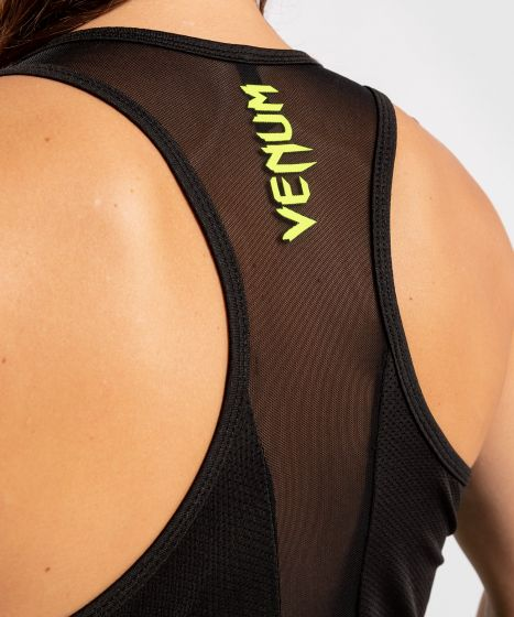 Безрукавка Venum Tecmo - Для женщин - Черный/Нео-желтый