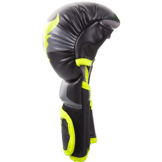 Перчатки для спарринга Ringhorns Charger – черные/ярко-желтые