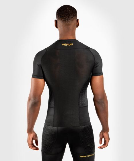 Venum G-Fit Rashguard - Short Sleeves - Black/Gold