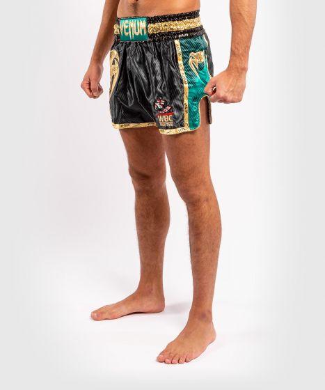 Venum WBC Muay Thai Shorts  - Black/Green